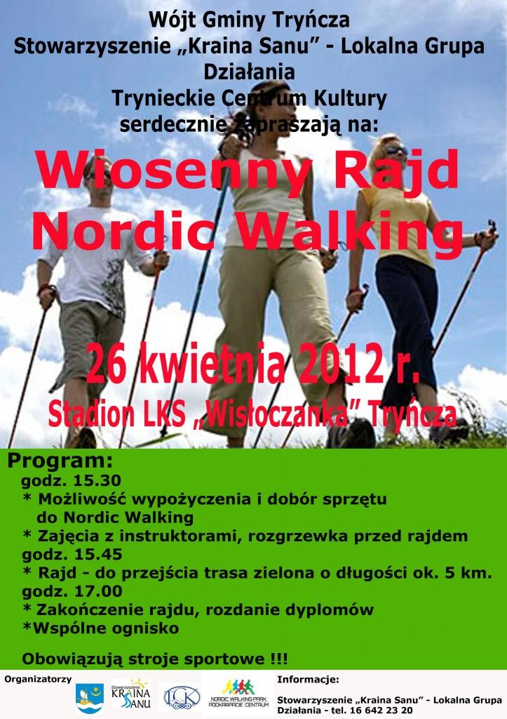 Wiosenny Rajd Nordic Walking w Tryńczy